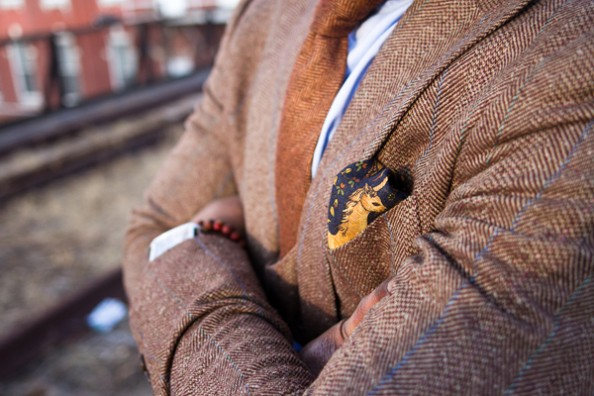Fall Fashion for men Tweed Suit and Tie