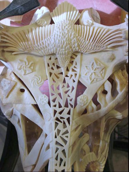 Shane Wilson Carved Animal Skull Detail