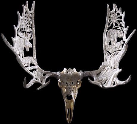 Shane Wilson Carved Animal Skull