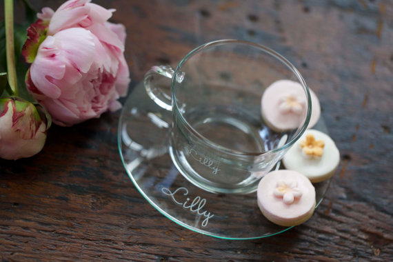 personalized tea cup