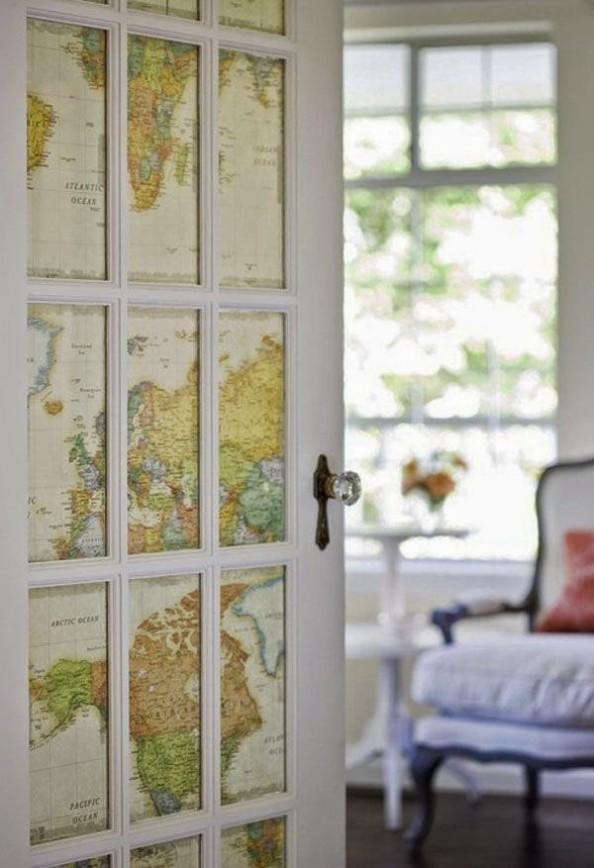 Door with Maps