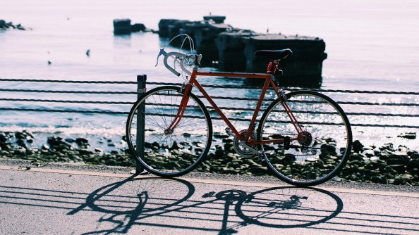 Bike on seaside