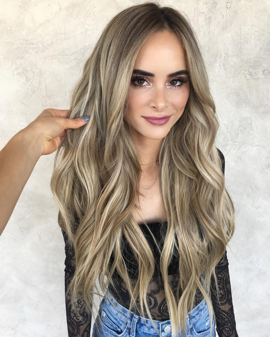 A blonde in the dark