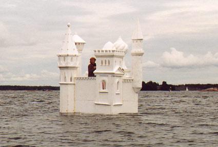 Petter Callesen Paper Art Palace on water