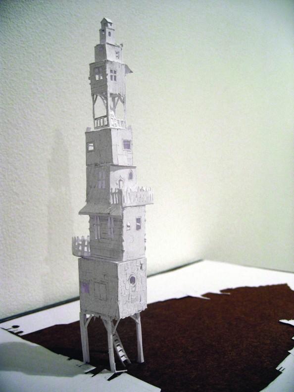 Petter Callesen Paper Art Tower of Babel