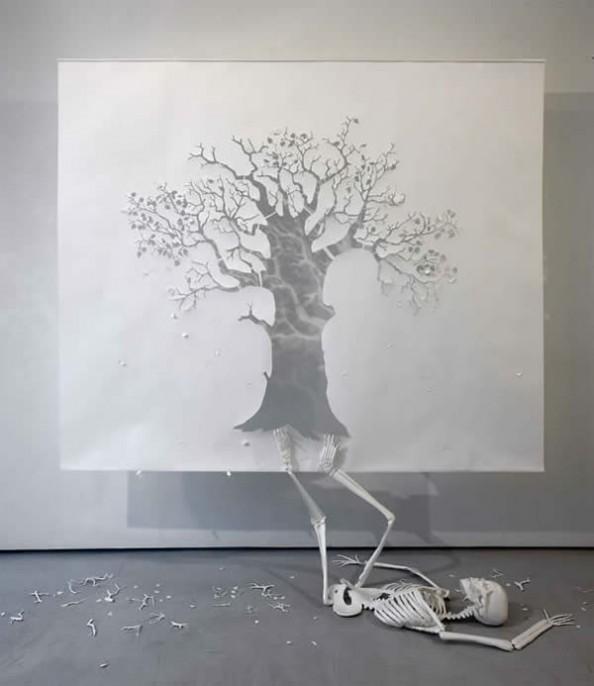 Petter Callesen Paper Art The Fall Adam Rei