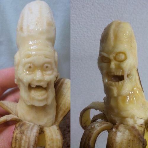 Creepy Banana Sculptures - Yamaden
