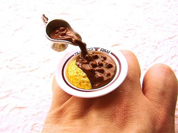 Food rings Souzou Creations Kawaii Floating Ring - Curry And Rice