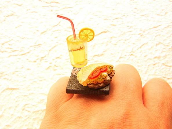 Food rings Souzou Creations Lemonade And A Pita Sandwich Ring