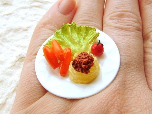 Food rings Souzou Creations Pasta Veggies Lunch Ring