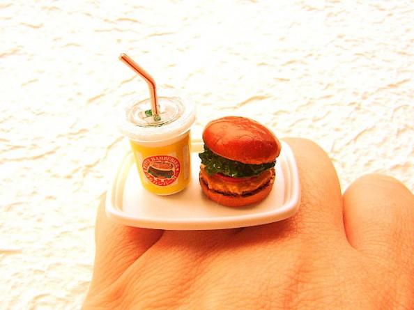 Food rings Souzou Creations Soda Burger Hamburger Ring