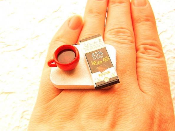Food rings Souzou Creations Tea Dark Chocolate Ring
