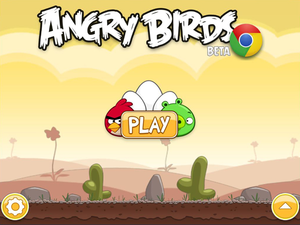Angry Birds Desktop First Screen