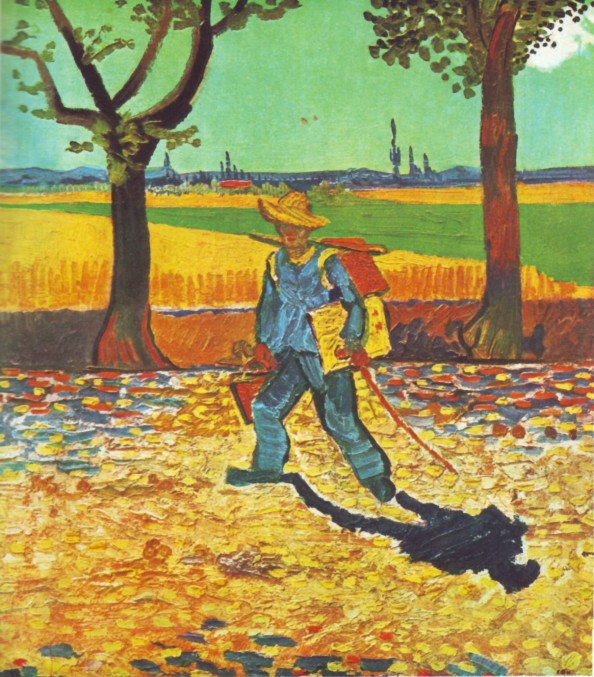 The Painter On His Way To Work by Vincent Van Gogh