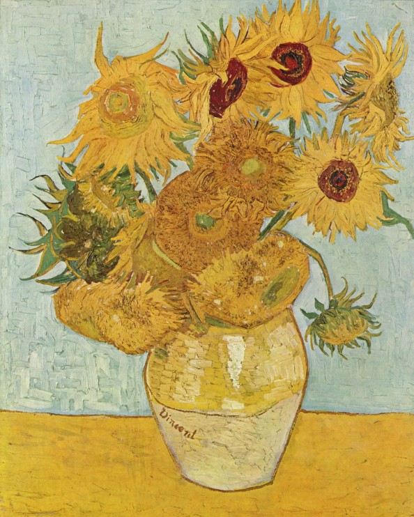 Still Life: Vase With Twelve Sunflowers by Vincent Van Gogh