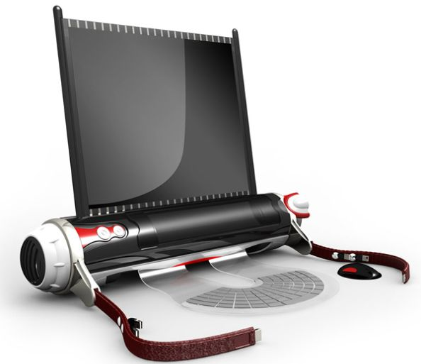 The D-Roll Roll-Up Laptop Concept