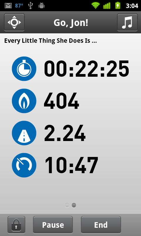 Adidas miCoach Stats View
