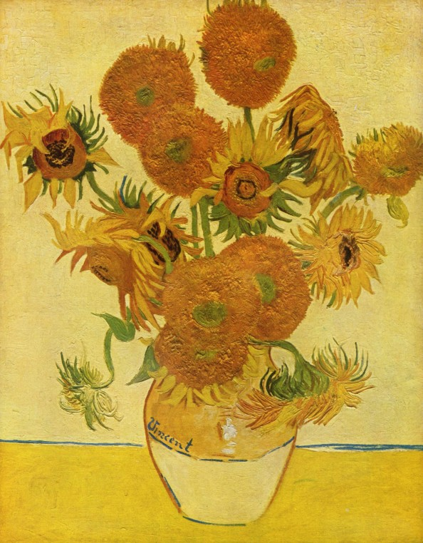 Still Life: Vase With Fifteen Sunflowers by Vincent Van Gogh