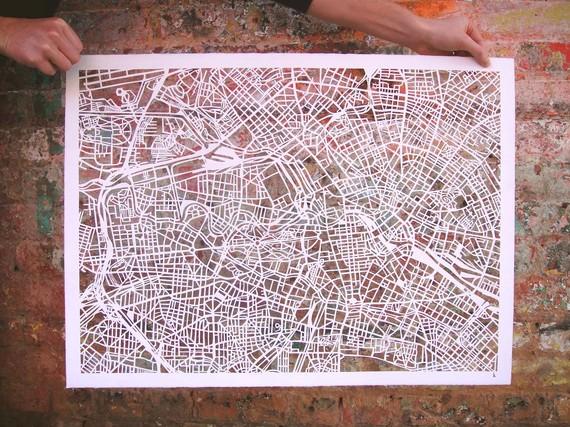 Cut-out Street Map Of Berlin