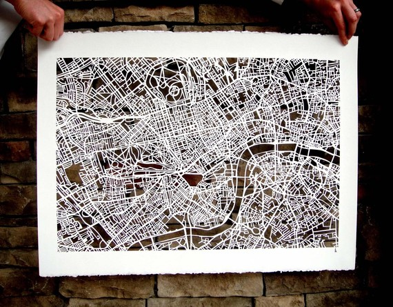 Cut-out Street Map Of London