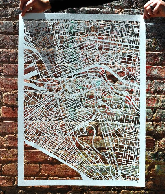 Cut-out Street Map Of Melbourne