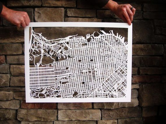 Cut-out Street Map Of San Francisco