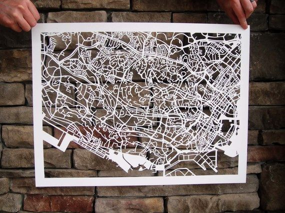 Cut-out Street Map Of Singapore