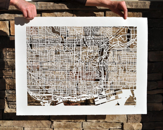 Cut-out Street Map Of Toronto