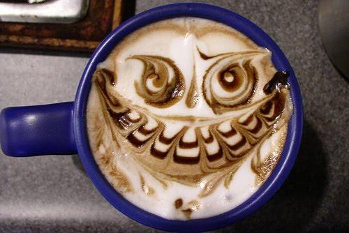 Evil Grim Design on a Latte