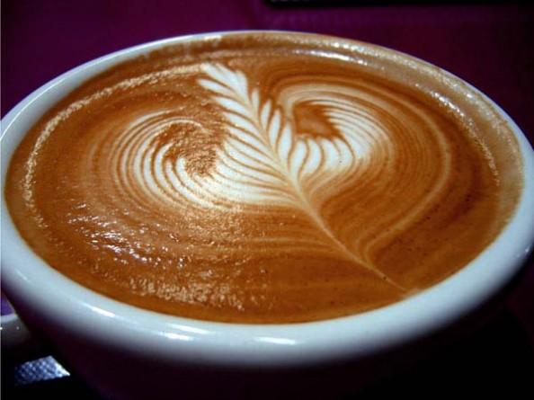 Leaf Design on a Latte