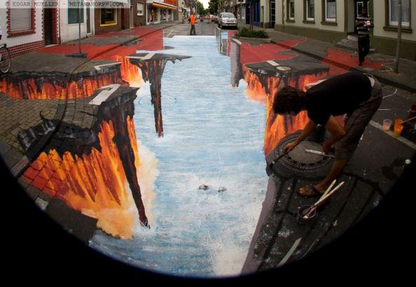 Lava Burst Painting Edgar Muller