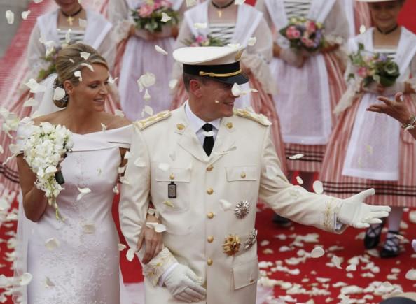Monaco Royal Wedding Princess Charlene Armani Prive Wedding Gown Religious Ceremony