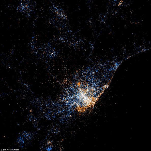 Social Networks Map Of Barcelona