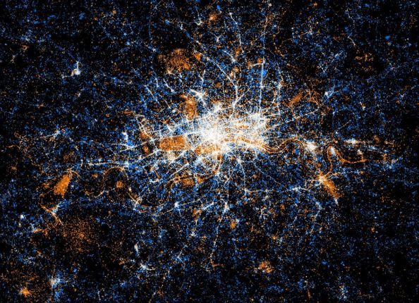 Social Networks Map Of London