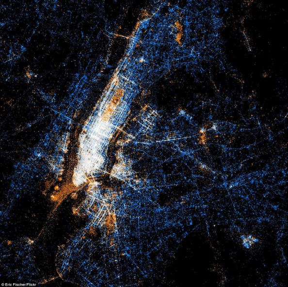 Social Networks Map Of New York