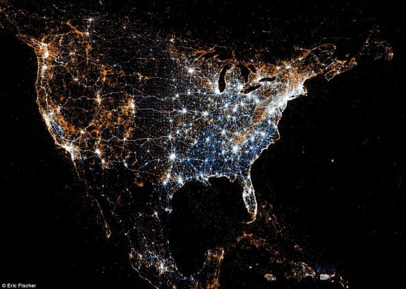 Social Networks Map Of North America