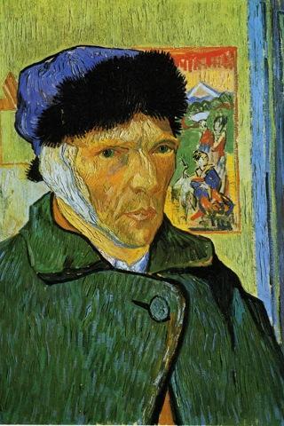 Van Gogh Android App Self-portrait