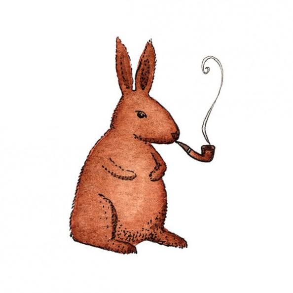 temporary tatoo rabbit matisse