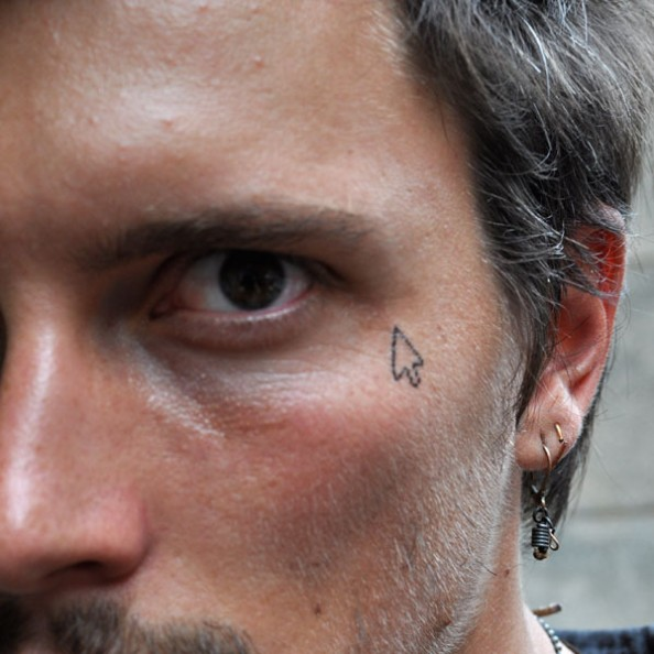 temporary tatoo cursor face