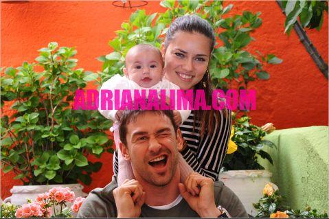 Adriana Lima Daughter Valentinan and Husband Marko Jaric