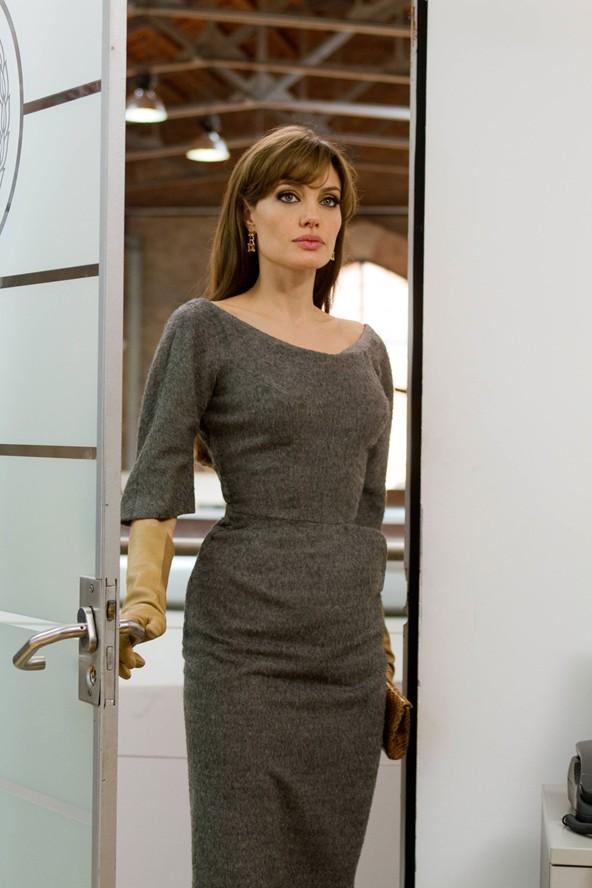 Angelina Jolie The Tourist Charles James Gray Dress