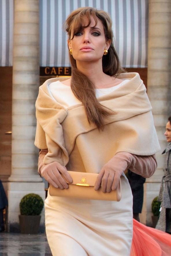 Angelina Jolie The Tourist Ivory Sheath Dress