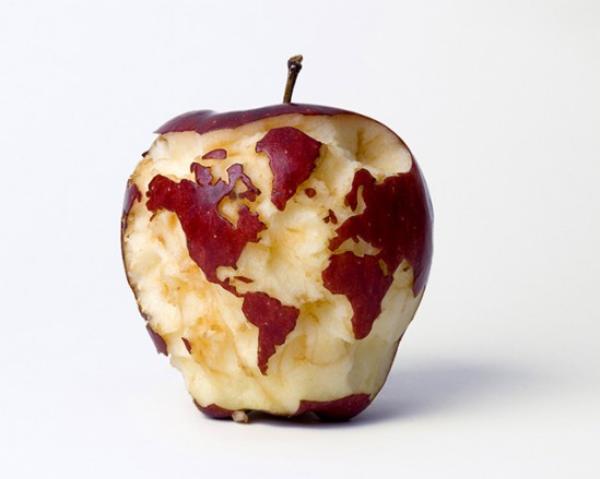 Artwork Apple World Map