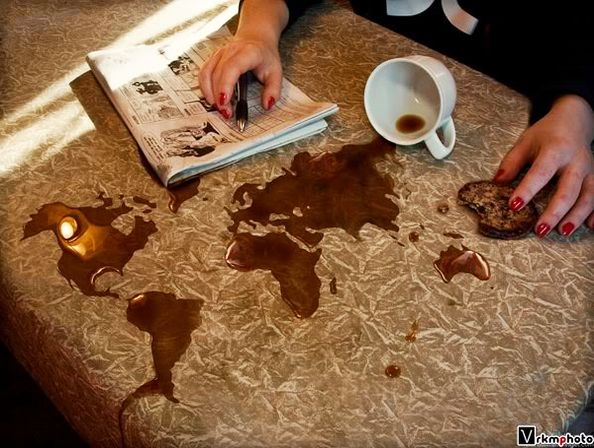 Artwork Coffee World Map