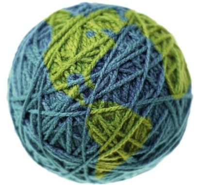 Artwork String Ball World Map by Benetton