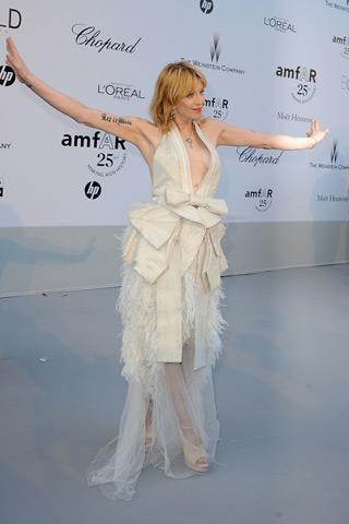 Courtney Love amfAR Cinema Against aids Cannes 2011