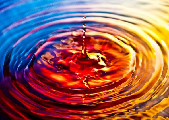 Falling Water Drop by Sergiu Bacioiu