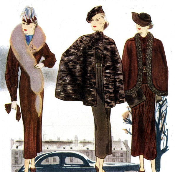 French Women Fashion in the 30s Furs