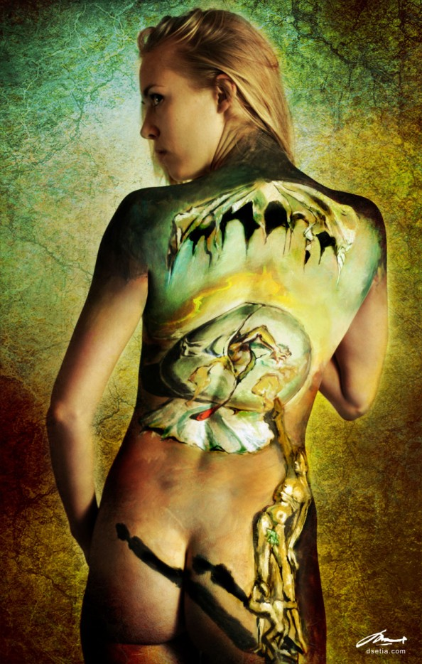 Geopoliticus by Dali Body Painting by Danny Setiawan