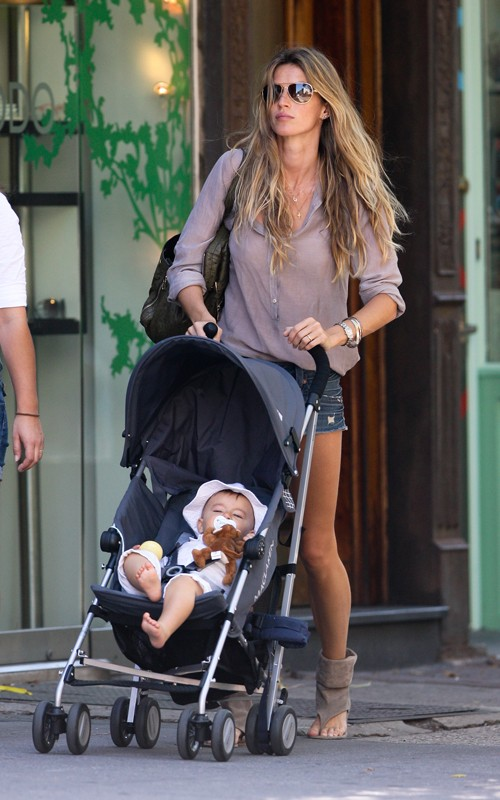 Gisele Bundchen and Baby Benjamin